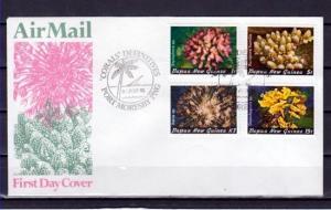 Papua New Guinea, Scott cat. 566-567. Coral Definitive. First day cover. ^