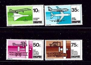 Singapore 312-15 MNH 1978 Aviation Development  #2