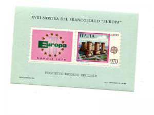 Italy 1978 Europa  sheet  VF NH  - Lakeshore Philatelics