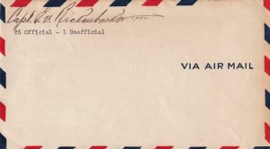 1932, Capt. Eddie Rickenbacker Autograph on a Unmailed Airmail Cover  (42313)
