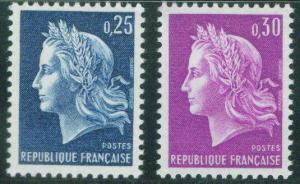 FRANCE Scott 1197-98 MNH** Marianne by Cheffer 1967
