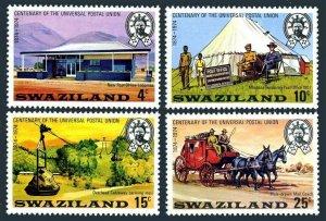 Swaziland 214-217,MNH.Michel 214-217 UPU-100,1974.P/O.Cable-way mail,Coach.