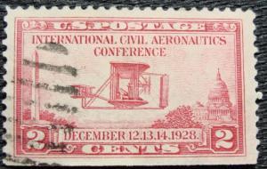 US #649 Used Single, Aeronautics Conference, SCV $.80 L12
