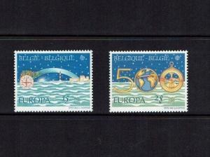 Belgium: 1992, 500th Anniv. Columbus  Discovery of America, Europa, MNH set