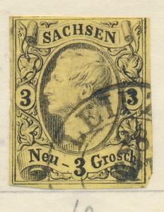 Saxony (German State) Stamp Scott #12, Used - Free U.S. Shipping, Free Worldw...