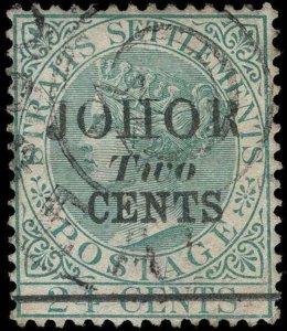 Malaya / Johore Scott 14-17 Gibbons 17-20 Used Set of Stamps