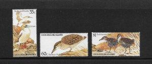BIRDS - COCOS ISLANDS #132-4   MNH