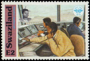 Swaziland #636-639, Complete Set(4), 1994, Aviation - Airplanes, Never Hinged