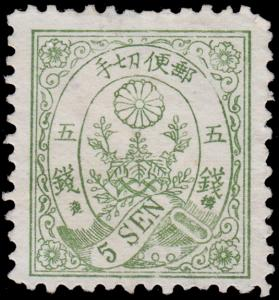 Japan Scott 54A (1876) Mint NG G-F, CV $220.00 C