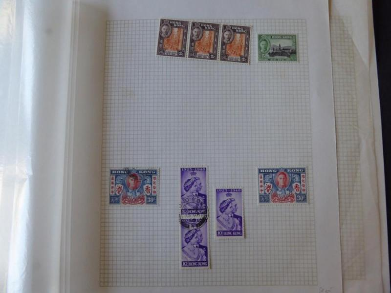 Hong Kong Mint/Used Stamp Collection on Album Pages