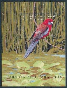 [108763] Gren. Carriacou & Petite Martinique 2000 Bird Parakeet Sheet MNH