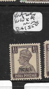 INDIA  PATIALA (PP3108B)  KGVI 1 1/2A SG 108A  MNH