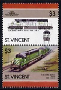 St Vincent 1986 Locomotives #6 (Leaders of the World) $3 ...