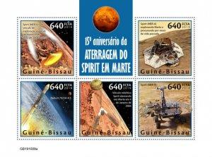 GUINEA BISSAU - 2019 - Spirit Landing on Mars - Perf 5v Sheet - M N H