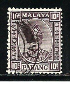 Malaya Pahang Stamps-Scott # 35/A7-10c-Canc/LH-1936-NG