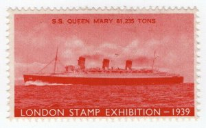 (I.B) Cinderella Collection : Stamp Exhibition 1939 (SS Queen Mary)