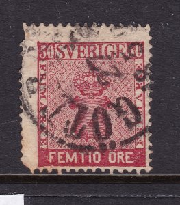 Sweden an old 50 ore from 1858