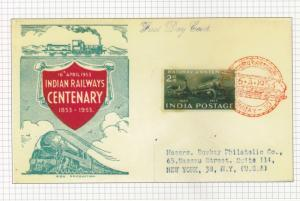 India Photo Card 1953  Railway Cent.  FDC Reproduced By P&T Dept.Postcard  01199