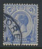 Straits Settlements George V  SG 232  Used  Brt Blue