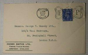 GB Croydon Surrey Fancy Holiday Cancel EP 1947 Christmas