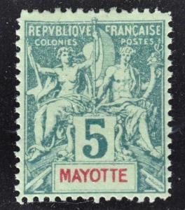 Mayotte Scott 4  perf 14 x 13 1/2  F+  mint OG H.