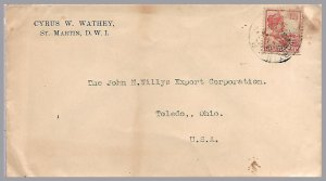 NETHERLANDS ANTILLES (Curacao) - ST. MARTIN - 1920s cover to USA