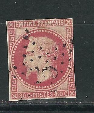 French Colonies 15 Y&T 10 Used VG 1871 SCV $110.00