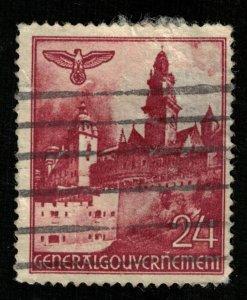 DEutsches Reich, 24 Pfg Germany, GENERALGOUVERNEMENT (T-5785)