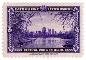 (I.B) US Cinderella : Eaton's Fine Letter Papers (Central Park)