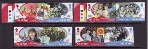 Isle of Man-Sc#1361-4-unused NH set-Girl Guides-2010-