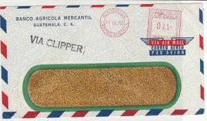 Guatemala 1970 Banco Agricola Mercantil Guatemala Airmail Stamps Cover refR17673