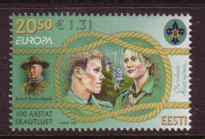Estonia Sc568 2007 Europa Boy Scouts stamp NH