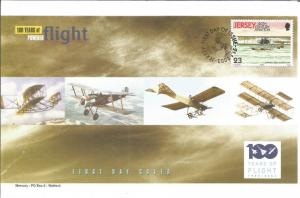 100 Years Of Flight First Day Cover Sanchez-Besa Hydroplane 2003 Jersey Z5494