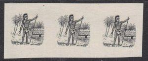 RAROTONGA/COOK ISLANDS^^^^RARER PROOF ESSAI strip  ( Rarotonga chief)@lar730cook