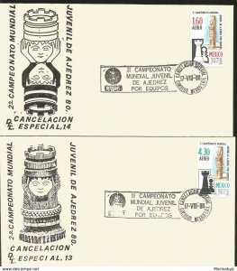 J) 1978 MEXICO, II WORLD CHAMPIONSHIP TEAM CHAMPIONSHIP, SPECIAL CANCELLATION, S