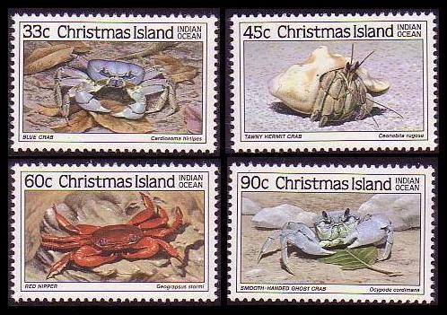Christmas Is. Crabs 4v SG#199/202