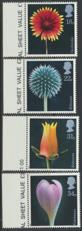 GB SG 1347 - 1350  SC# 1168-1171 Mint Never Hinged - Flower Photography