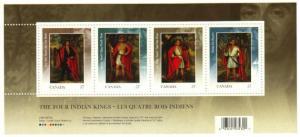 Canada - #2383b The Four Indian Kings Souvenir Sheet - MNH