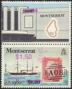 1990 Montserrat #736-740, Complete Set(5), Never Hinged