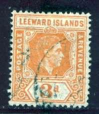 Leeward Islands; 1942: Sc. # 109; O/Used Single Stamp