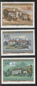 LIECHTENSTEIN Scott 806-809 MNH** 1985 Monestary set