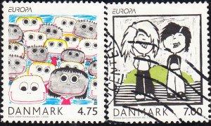 Denmark #1361-1362  Used