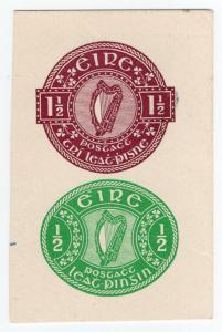 (I.B) Ireland Postal : Post Card Dies 2d