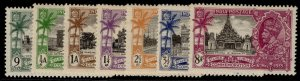 INDIA GV SG240-246, SILVER JUBILEE set, LH MINT. Cat £30.