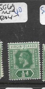 VIRGIN ISLANDS (P1903B) KGV 1/2D  SG 69  MNH