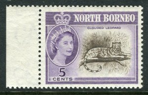 NORTH BORNEO; 1961 early QEII issue fine Mint hinged Marginal value, 5c