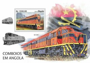 Z08 IMPERF ANG190206b Angola 2019 Trains MNH ** Postfrisch