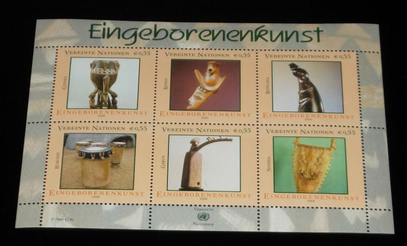U.N.VIENNA #375, 2006, INDIGENOUS ART, SHEET OF 6, MNH,NICE! LQQK!