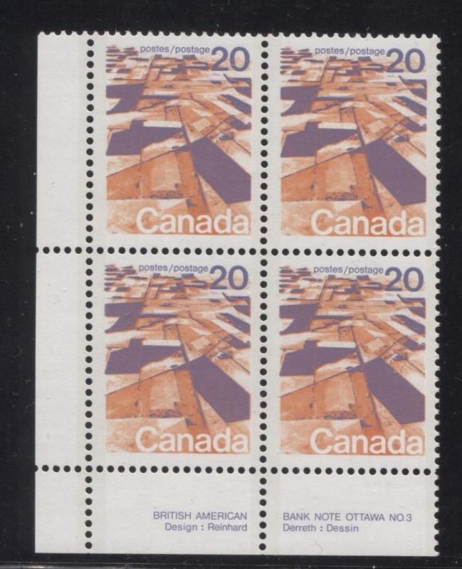 Canada #596aiii 20c Caricature Issue Perf. 13.3  MF Paper Type 4 LL VF-75 NH