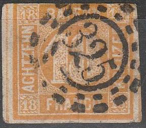 Bavaria #8 F-VF Used CV $190.00